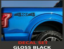 4x4 Truck Bed Decals, Gloss Black (Set) for 2015 Ford F-150 and Super Duty