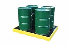 4 Drum Oil Chemical Bunded Drip Sump Spill Deck Pallet
