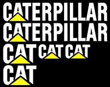 Caterpillar Stickers 2 x 550 x 100, 2 x 175 x 105, 1 x 130 x 75 Quality Stickers