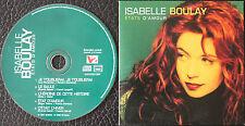 """ISABELLE BOULAY """"ETATS D'AMOUR""""  CD 5 TITRES"""