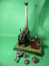 uralt Bing Dampfmaschine mit Fliesenmuster und komplettem Zubehör