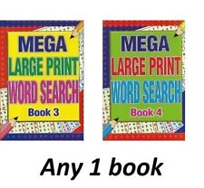 A4 Mega Large Print Word Search Puzzle Book Books 258 Puzzles A4 Pages 1 & 2
