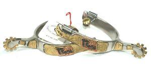 """Winchester Brand Men's 3/4"""" Band 'Texas Sesquicentennial 1836' Spurs 15956"""