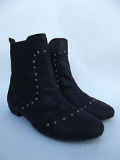 REBELS Black Ankle Boots Studded Accents Women SHOES Sz 8.5 CUTE