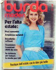 RIVISTA MAGAZINE BURDA MODEN 7 JULI 1982 CARTAMODELLI + ALLEGATO ITALIANO