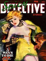 Spicy Detective Stories High Quality Metal Magnet 3 x 4 inches 9493