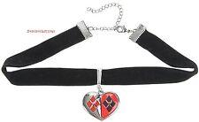 Harley Quinn Black Velvet Choker With Heart Pendant Licensed DC Comics Free Ship