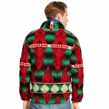 Polo Ralph Lauren Men Southwestern Aztec Indian Navajo Tribe Fleece Shirt Jacket