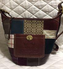 COACH $368 Bleecker Legacy Leather Patchwork Duffle Crossbody Shoulder Bag Purse