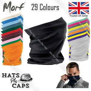 Face Mask Cover Snood Beechfield Morf Original Neck Warm Breathable Washable
