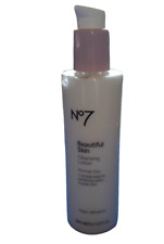 Boots No7 Beautiful Skin CLEANSING LOTION Normal/Dry Skin 200ml Full Size NEW