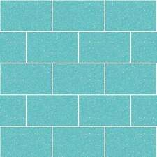CROWN LONDON AQUA GLITTER KITCHEN BATHROOM TILE WALL BRICK VINYL WALLPAPER M1122