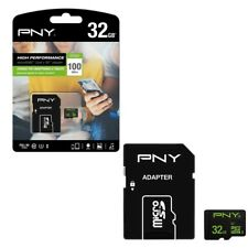 32GB PNY MicroSD Micro SDHC Memory Card with Adapter 100MB/s Class 10 UHS-1 U1