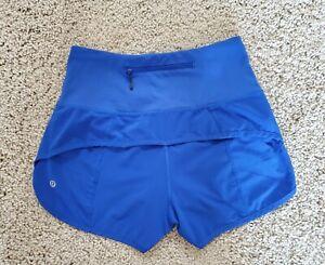 Lululemon Run Speed Shorts High Rise  JET STREAM BLUE   Sz. 4  EUC!!