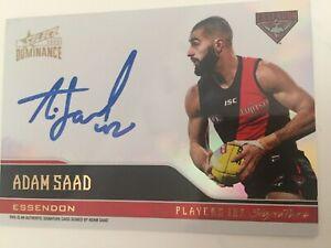 Dominance 2020 Select Adam Saad Player Ink Essendon Bombers Signature # 115