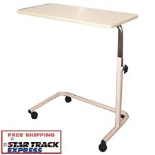 Overbed Table Mobile Over Bed/ Chair - For Meals Laptop Work,Height  Adj, 80cm W