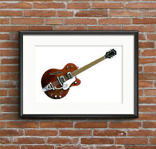 George Harrison's Chet Atkins Tennessean guitare Affiche Imprimé A1 taille