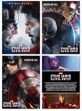 CAPTAIN AMERICA CIVIL WAR Movie - 3 Card Promo Set - Divided We Fall - Iron Man