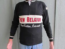 100% wool men's regular size M Cycling Jersey New Belgium Brewing Retro style