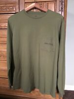 Southern Point Men's Pocket Long Sleeve T-Shirt Size Small Green