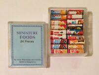 Vintage Miniature Dollhouse Food Box Grocery Lot Betty Crocker Post Hungry Jack