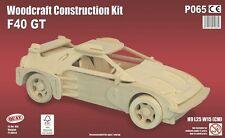 F40 GT Woodcraft Construcción Kit-Coche 3D De Madera Modelo Puzzle para Niños & Adultos
