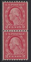 U.S. Stamps - Scott # 487 - Coil Pair - Mint Never Hinged - XF           (Q-467)