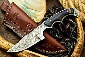Custom Handmade Damascus Hunting Blade Hunter Camping Full Tang Knife