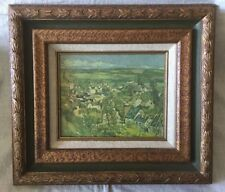 Auvers Village Panorama by Paul Cezanne, 1967 Canvas Print USA, Framed
