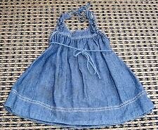 FRED BARE BABY GIRLS DENIM DRESS SZ 00