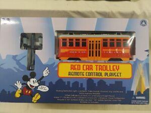 DISNEY CALIFORNIA ADVENTURE Red Car Trolley Remote Control Playset NEW!!!
