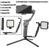 For DJI OSMO Mobile 2/ 3 Gimbal Stabilizer LED Light L-shaped Bracket & Tripod