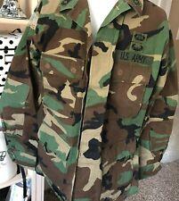 Mens M Reg CAMO US ARMY Shirt JACKET Hot Weather Woodland Rip Stop Tactical
