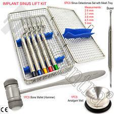 Sinus Concave Osteotome-Offset-Bone Grafting Hammer Amalgam Well Buser Elevators