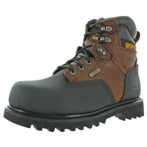 """CAT Footwear Mens Creston 6""""  Brown Work Boots Shoes 7 Wide (E) BHFO 5900"""