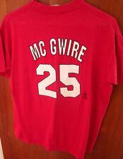 MARK McGWIRE youth T shirt XL St. Louis Cardinals #25 Majestic OG baseball tee