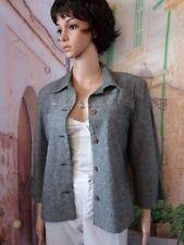 Formul: Veste droite lin et Coton chiné Noir/Blanc.T.38.Neuve