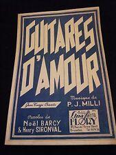 Partition Guitares d'amour PJ Milli Music Sheet