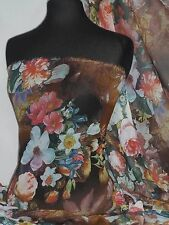 Lexi Floral Art Soft Touch Chiffon Sheer Fabric PCH29 MLT