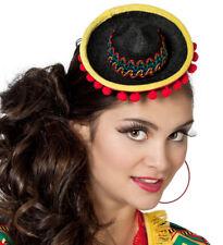 Senorita mini Sombrero gorro negro nuevo - carnaval carnaval Hat Cap Kopfbedecku