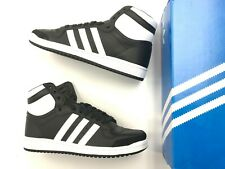 Brand New Men ADIDAS TOP TEN HI Black White retro Leather high top shoes