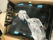"Oliver 5"" Leather & Mesh  Steel Toe Sneakers,Black & Blue (OL21112) Women's 10.5"