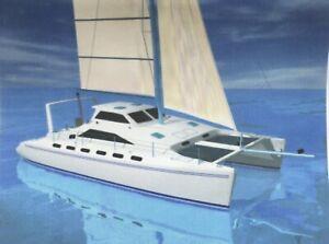 DIY Self-build plans for a Farrier f-41 Catamaran