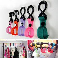New Baby Stroller Pram Pushchair Car Hanger Hanging 2 Hooks Strap Multi Purpose