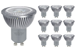 10 Pack 6W GU10 COB LED High Power Warm White Replacement for Halogen Spotlights