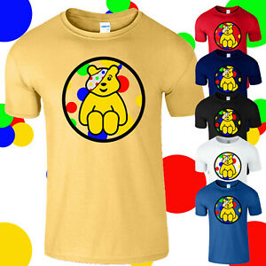Pudsey Bear Childern In Need Kids T Shirt Spotty Day Charity Fundraise Boys Tee