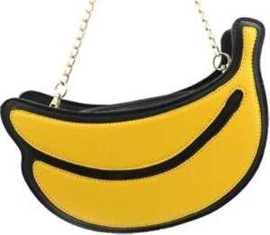 Latest Novelty Cute Banana Shoulder Clutch  Shoulder Handbag for Women