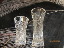 """Lenox Collections Crystal 6"""" And 4"""" Bud Vases Item #090339 and"""
