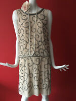Frock & Frill Beaded Flapper 1920s Gatsby Charleston Party Dress Size 16 BNWT