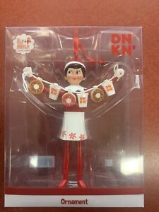 Limited Edition 2020 Dunkin Donuts Ornament Girl Elf On A Shelf NEW Release